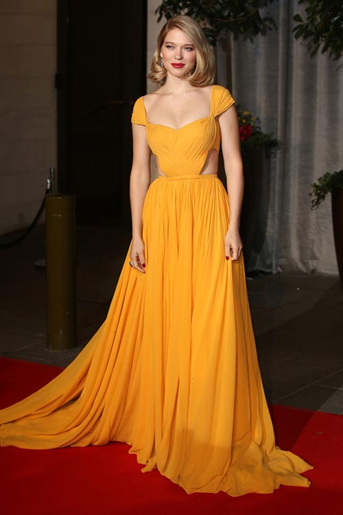 BAFTA Awards 2015 Red Carpet Fashion: Lea Seydoux