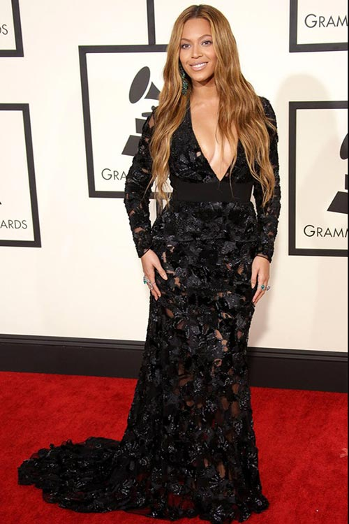 Grammy Awards 2015 Red Carpet Fashion: Beyonce