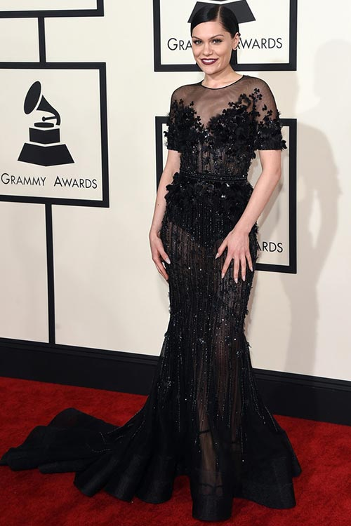 Grammy Awards 2015 Red Carpet Fashion: Jessie J