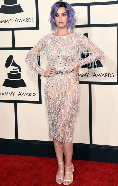 Grammy Awards 2015 Red Carpet Fashion: Katy Perry