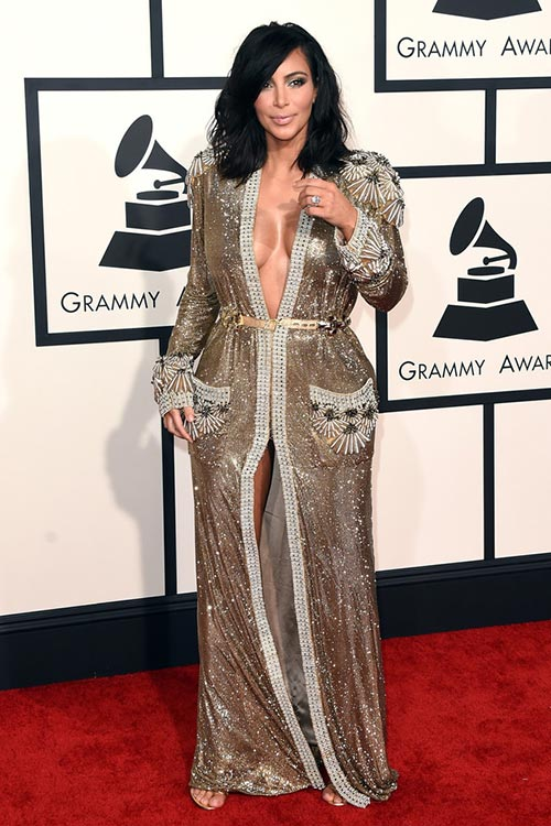 Grammy Awards 2015 Red Carpet Fashion: Kim Kardashian