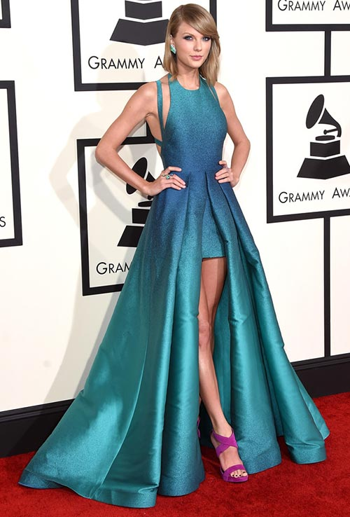 Grammy Awards 2015 Red Carpet Fashion: Taylor Swift