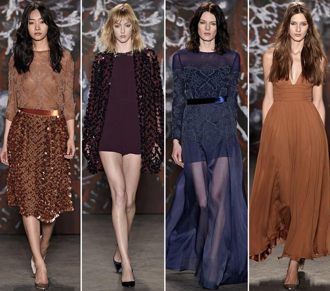 Jenny Packham Fall/Winter 2015-2019 Collection - New York Fashion Week