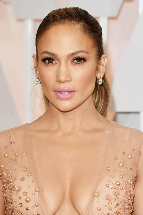 Oscars 2015 Celebrity Hairstyles and Makeup: Jennifer Lopez