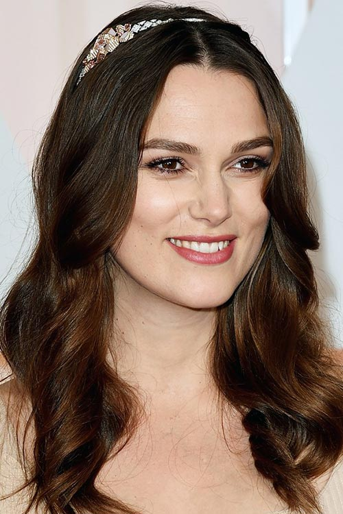 Oscars 2015 Celebrity Hairstyles and Makeup: Keira Knightley