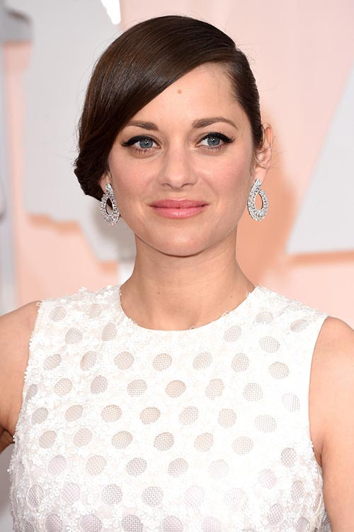 Oscars 2015 Celebrity Hairstyles and Makeup: Marion Cotillard