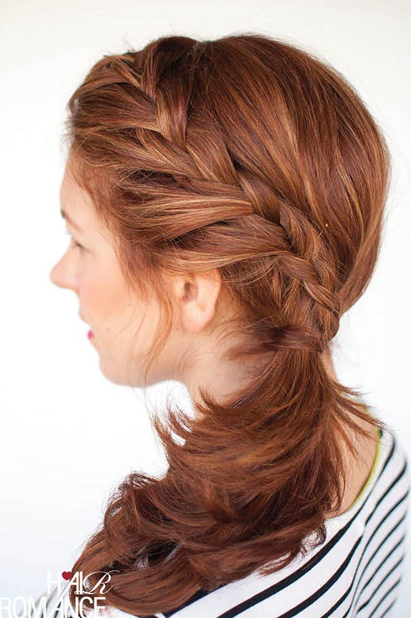 Romantic Hairstyle Tutorials for Valentine's Day: Braided Ponytail