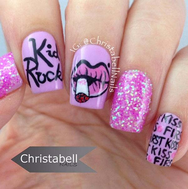 6 Pretty Valentine\'s Day Nail Art Ideas from Instagram | Fashionisers