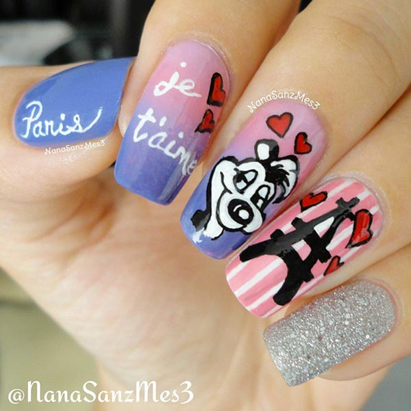 6 Pretty Valentine's Day Nail Art Ideas from Instagram