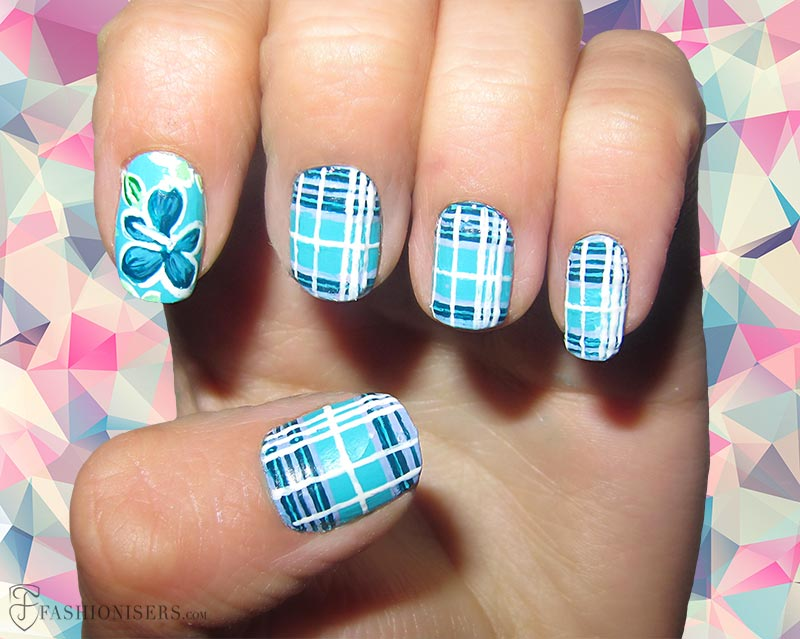 12 Modern Checkered Nail Art Designs | Fashionisers