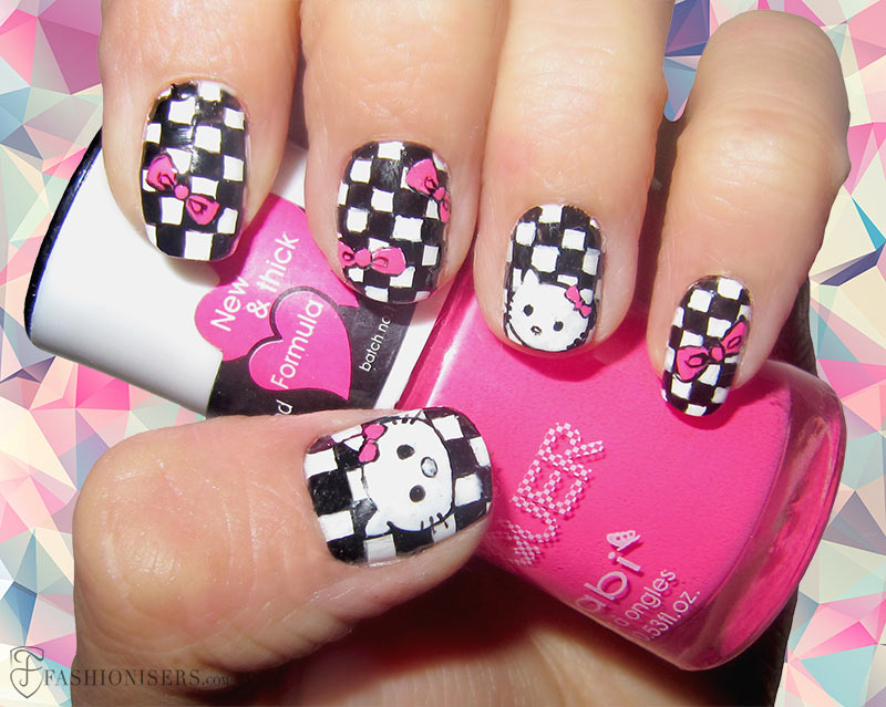 12 Modern Checkered Nail Art Designs Fashionisers