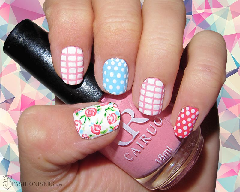 12 Modern Checkered Nail Art Designs
