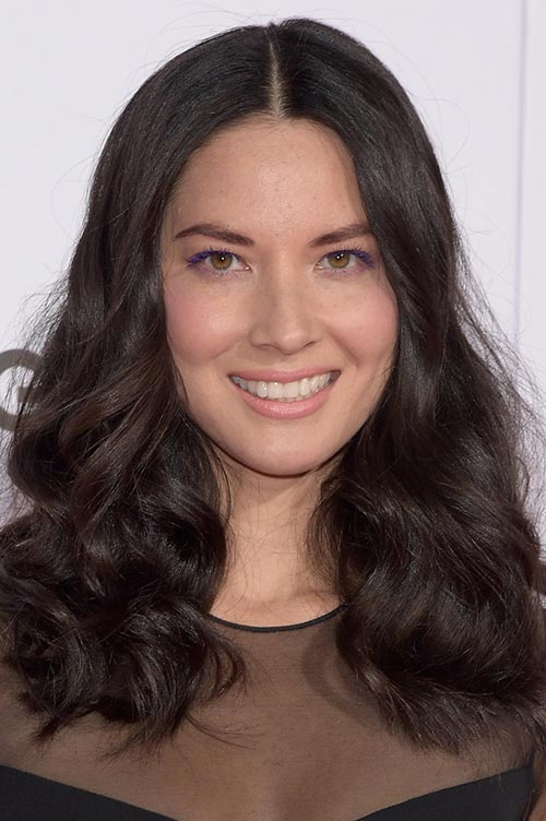 Trendy Hair Colors for Spring 2015: Olivia Munn Black Hair