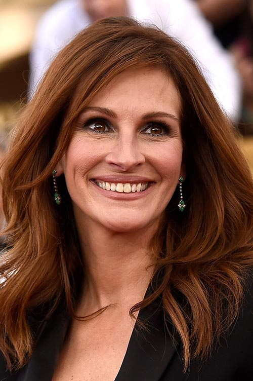Trendy Hair Colors for Spring 2015: Julia Roberts Red Hair