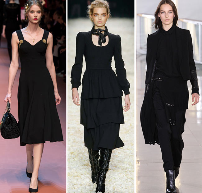 Fall/ Winter 2015-2016 Color Trends: Timeless Black