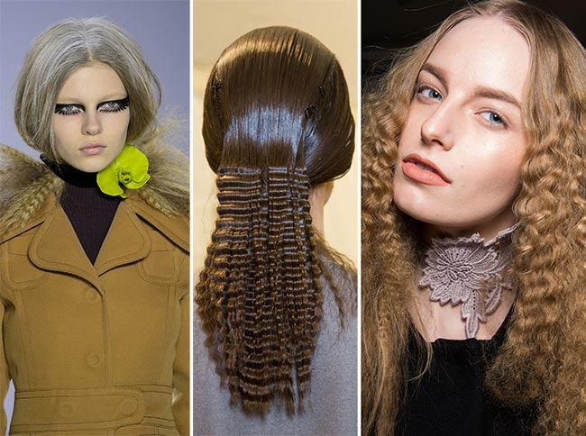 Fall/ Winter 2015-2016 Hairstyle Trends: Crimped Hair