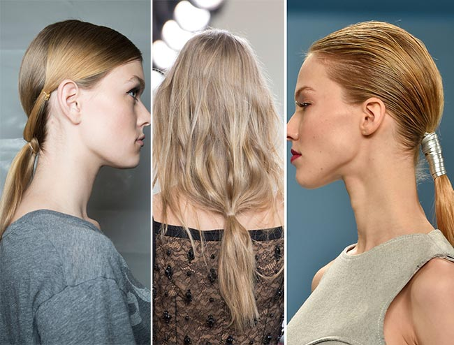 Fall/ Winter 2015-2016 Hairstyle Trends: Hair Bound At The Nape