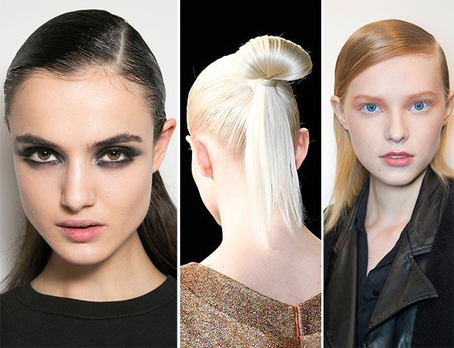 Fall/ Winter 2015-2016 Hairstyle Trends: Sleek Hair