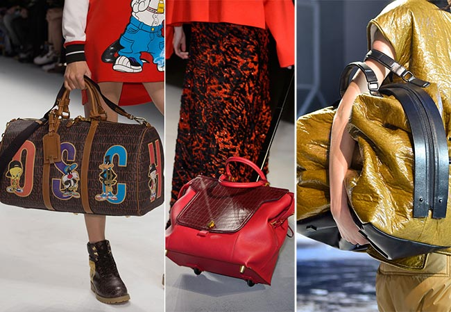 Fall/ Winter 2015-2016 Handbag Trends: Backpacks and Suitcases