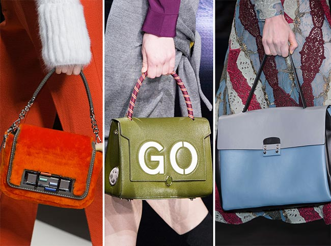 Fall/ Winter 2015-2016 Handbag Trends: Brightly Colored Handbags