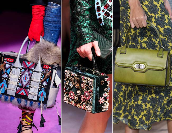 Fall/ Winter 2015-2016 Handbag Trends: Easy to Grip Handbags