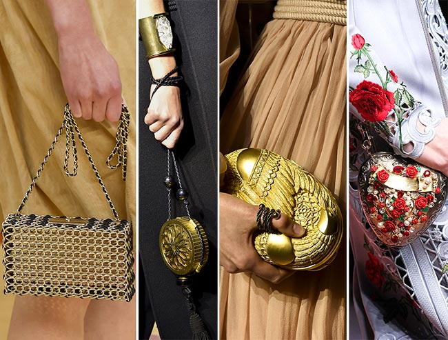 Fall/ Winter 2015-2016 Handbag Trends: Glittery Handbags