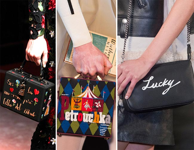 Fall/ Winter 2015-2016 Handbag Trends: Handbags With Word Prints
