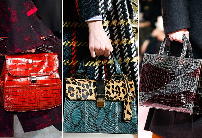 Fall/ Winter 2015-2016 Handbag Trends: Reptile Skin Handbags