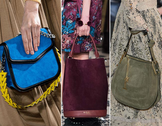 Fall Winter 2018 Handbag Trends Suede Handbags