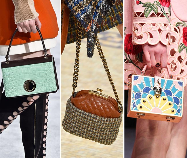 Fall/ Winter 2015-2016 Handbag Trends: Tiny Handbags