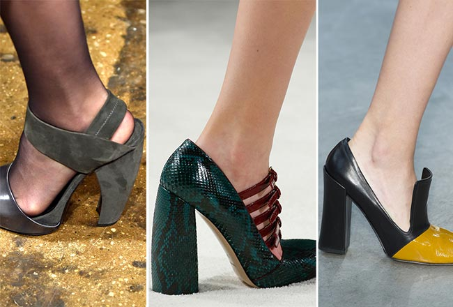 Fall/ Winter 2015-2016 Shoe Trends: Shoes with Chunky Heels