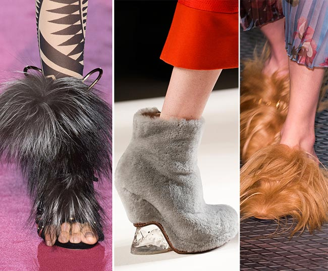 Fall/ Winter 2015-2016 Shoe Trends: Fur Shoes