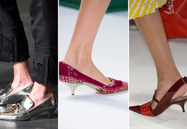 Fall/ Winter 2015-2016 Shoe Trends: Kitten Heels