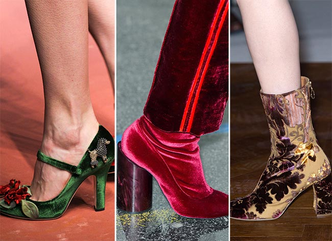 Fall/ Winter 2015-2016 Shoe Trends: Velvet Shoes