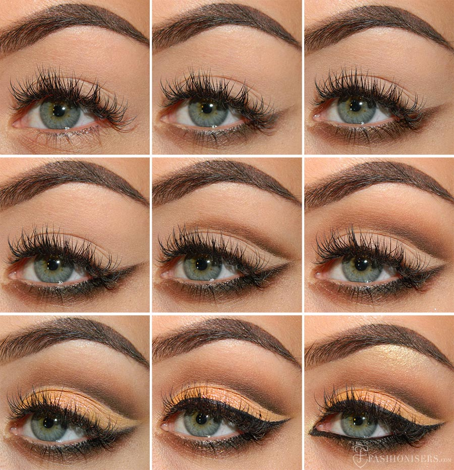 mellow amp brown cut crease eye makeup tutorial fashionisers