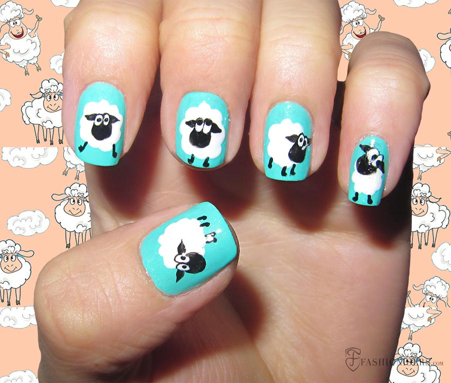 9 Pretty Sheep Nail Art Designs