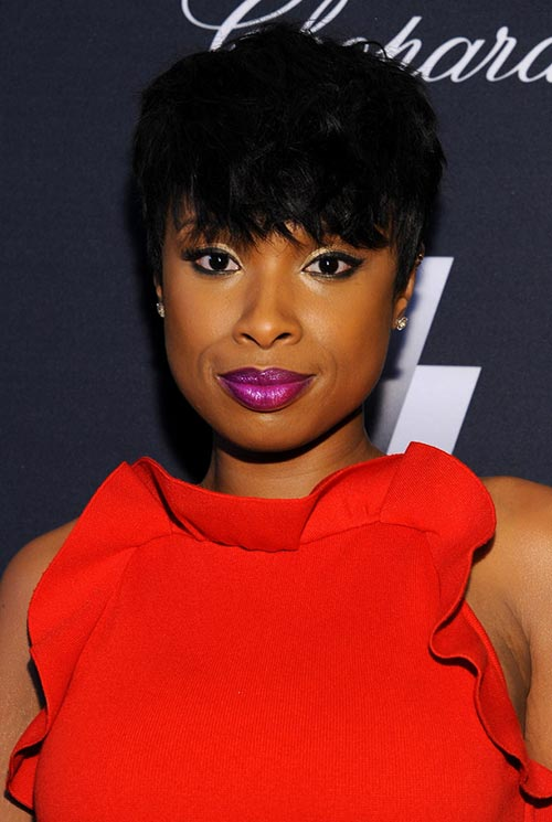 Short Hairstyle Ideas Jennifer Hudson Hair With Bangs