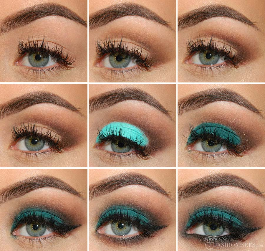 Emerald Green Eye Makeup Tutorial With A Matte Effect Fashionisers
