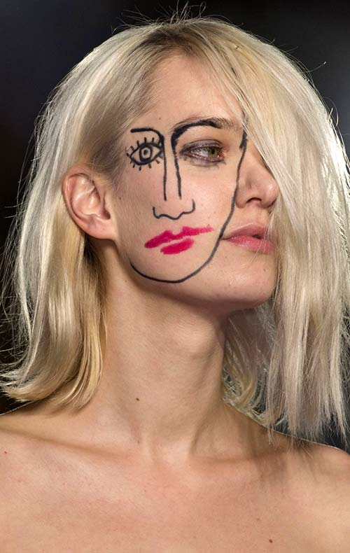 Fall 2015 Trend of Painted Faces: Jacquemus