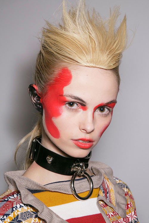 Fall 2015 Trend of Painted Faces: Vivienne Westwood Red Label