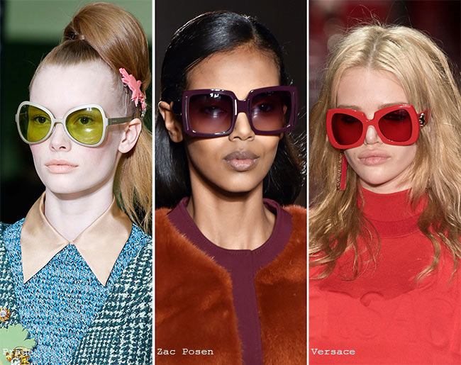 Fall/ Winter 2015-2019 Eyewear Trends: Colorful Sunglasses