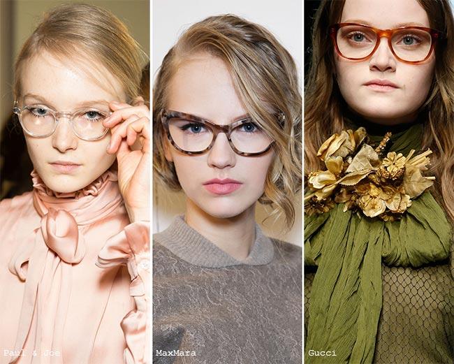 trends in glasses frames  Fall/ Winter 2015-2016 Eyewear Trends