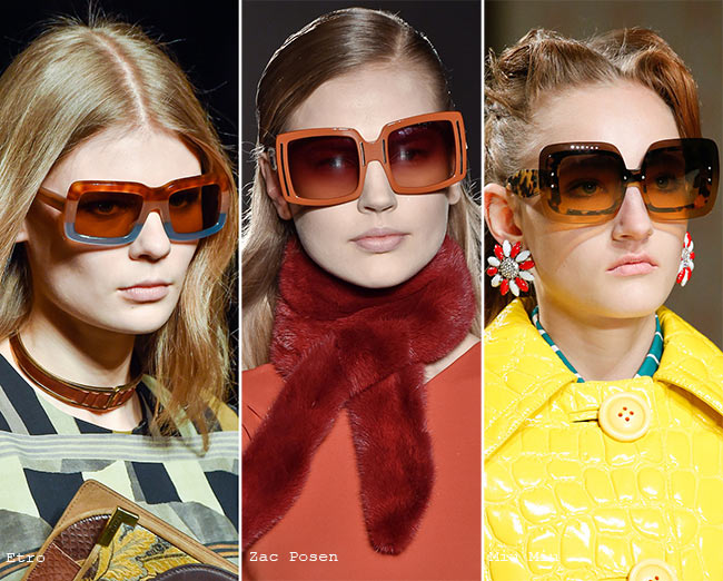 Fall/ Winter 2015-2019 Eyewear Trends: Square Sunglasses