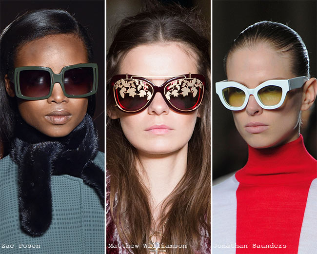 Fall/ Winter 2015-2016 Eyewear Trends: Sunglasses Matching Outfits