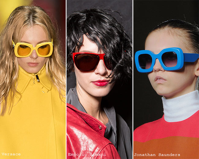 Fall/ Winter 2015-2019 Eyewear Trends: Sunglasses With Colorful Frames