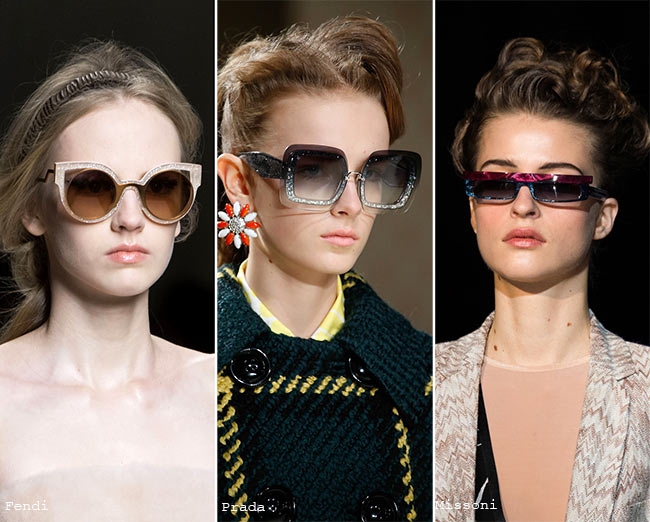 Fall/ Winter 2015-2016 Eyewear Trends: Sunglasses with Glittering Frames