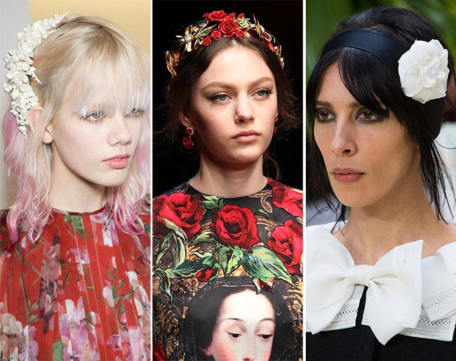 Fall/ Winter 2015-2016 Hair Accessory Trends: Floral Hair Accessories