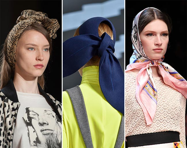 Fall/ Winter 2015-2016 Hair Accessory Trends: Minimalist Headscarves