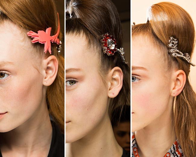 Fall/ Winter 2015-2016 Hair Accessory Trends: Jewelled Hair Clips, Barrettes