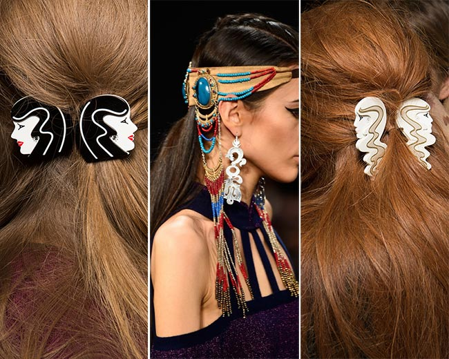 Fall/ Winter 2015-2016 Hair Accessory Trends: Unique Hair Accessories